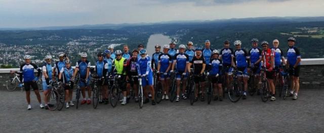 Rennradgruppe, Gemeinsame Vortour zum Drachenfels (2019)